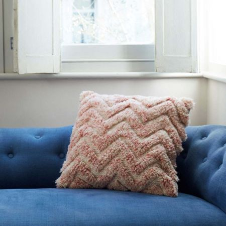 Zig Zag Tufted Cushion