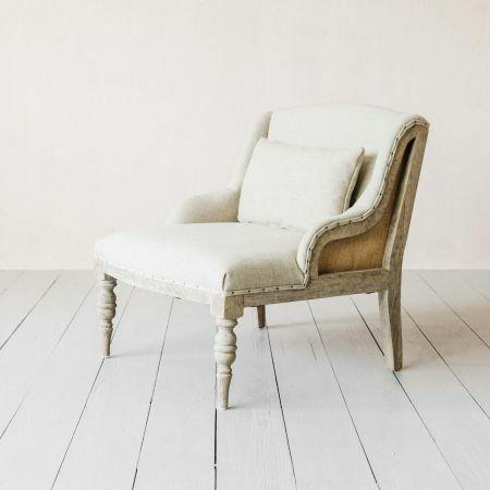 Duchess Natural Linen Armchair