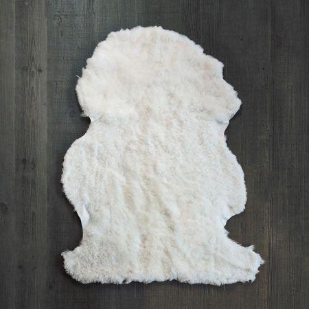 curly ivory sheepskin rug