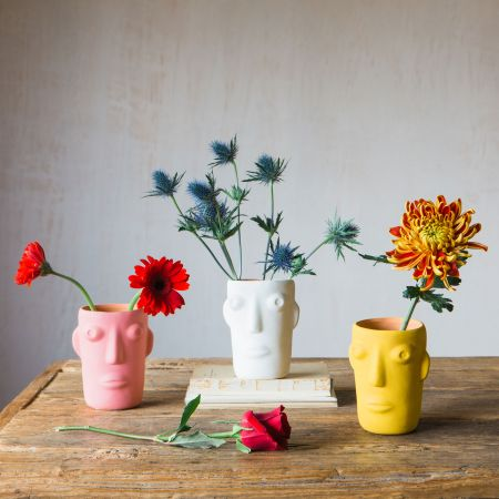 Small Amos Face Vases