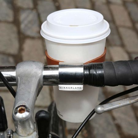 Bicycle Leather Cup Holder - Thumbnail