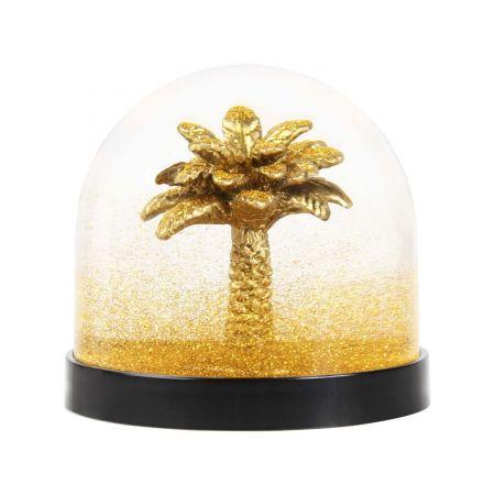 Gold Palm Tree Snow Globe - Thumbnail