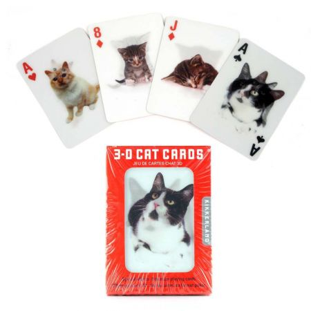 3D Cat Playing Cards - Thumbnail