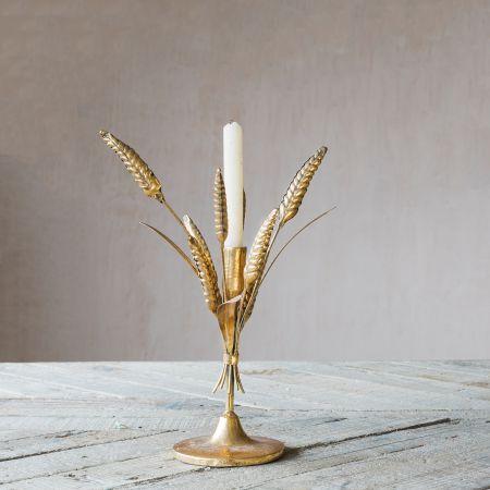 Gold Leaf Candlestick