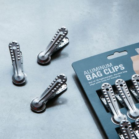 Set of Ten Aluminium Bag Clips