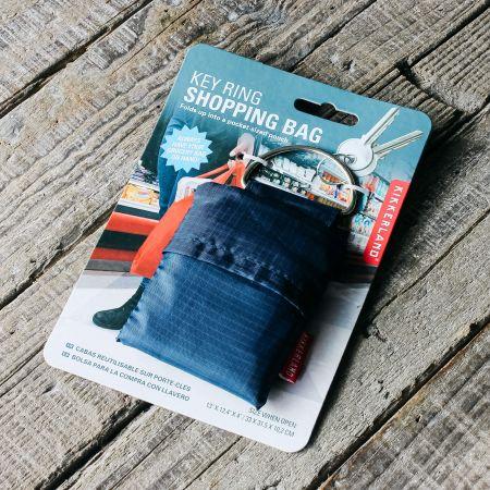 Blue Shopping Bag Key Ring