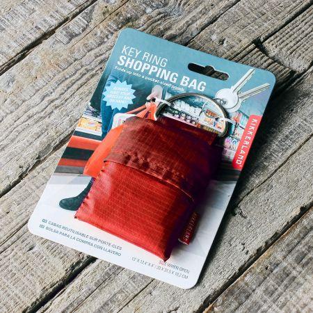 Red Shopping Bag Key Ring