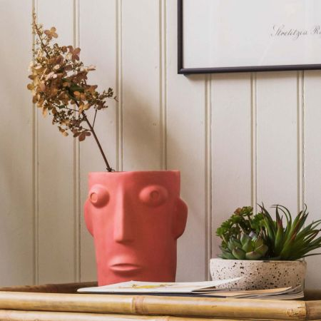 Amos Pink Face Vase