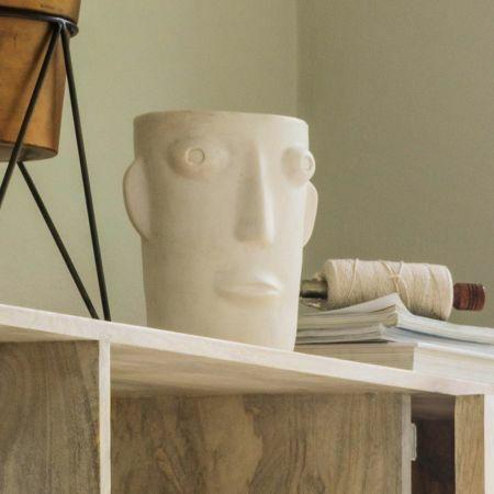 Amos White Face Vase