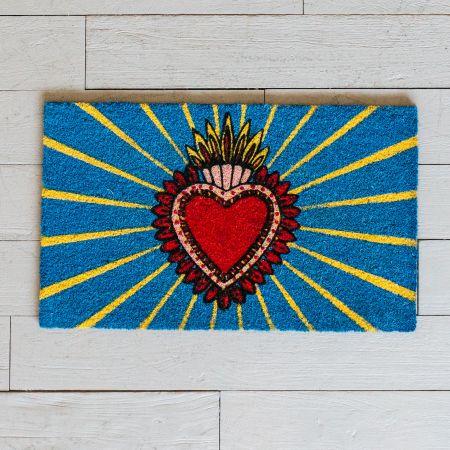 Heart Design Doormat