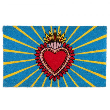 Heart Design Doormat