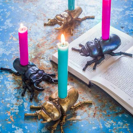 Beetle Candle Holders