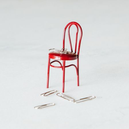 Chair Magnet Paper Clip Holder