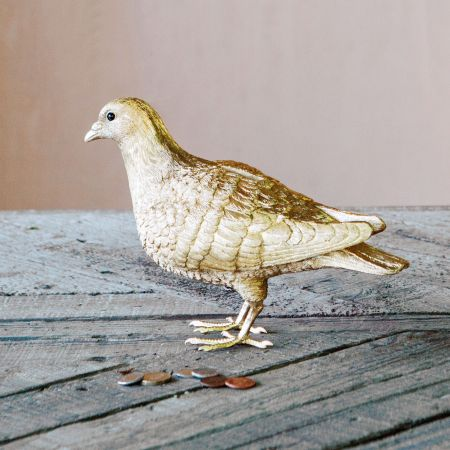 Gold Pigeon Coin Bank