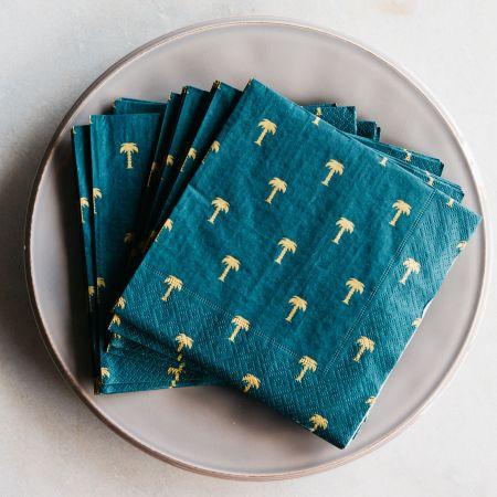 Pack of Twenty Green Palm Tree Napkins