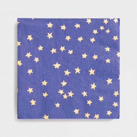 Pack of Twenty Navy Star Napkins