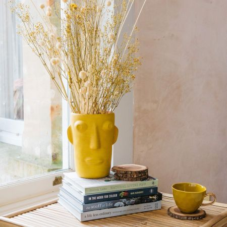 Amos Yellow Face Vase