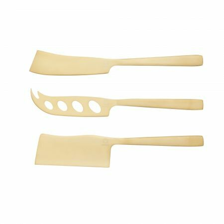 Set of Three Brass Cheese Knives