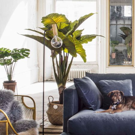Faux Potted Banana Plant