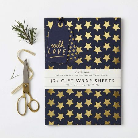 Katie Leamon Navy and Gold Stars Wrap - Thumbnail