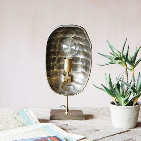 Gold Hammered Table Lamp