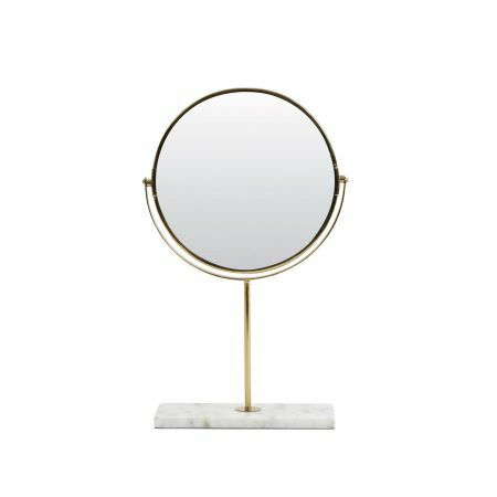 White Marble Base Mirror