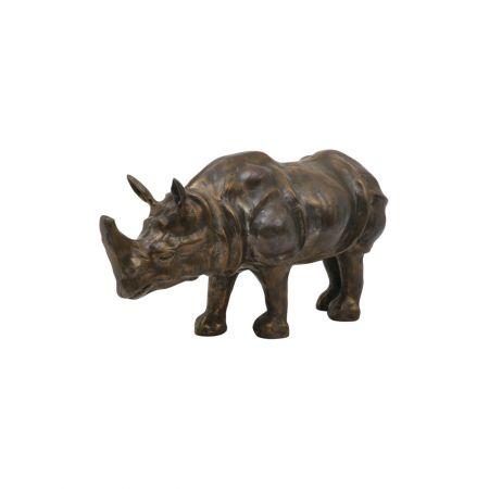 Antique Bronze Rhino Ornament