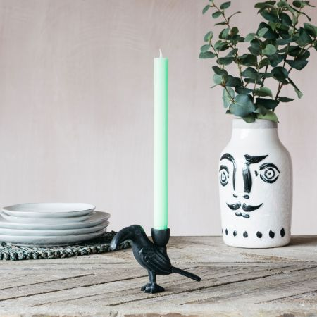 Black Toucan Candle Holder