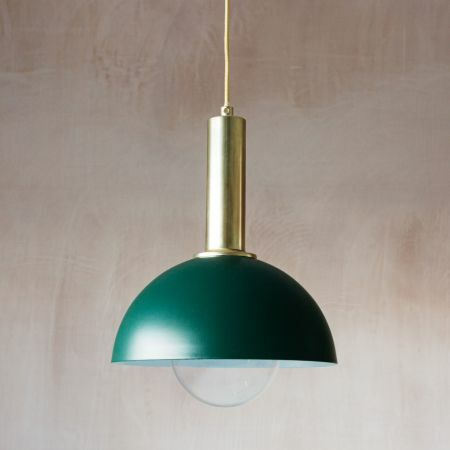 Large Green Hood Pendant Light
