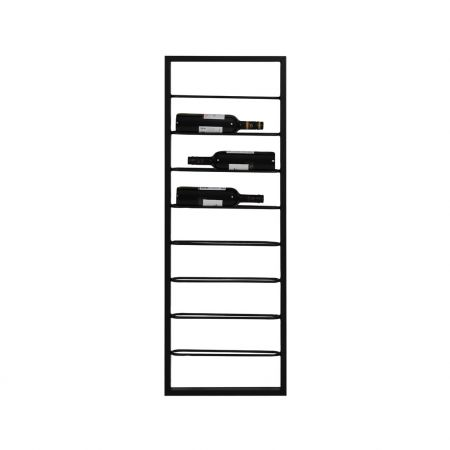 Eight Bottle Black Wine Rack