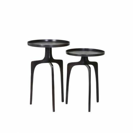 Markus Set of Two Bronze Side Tables