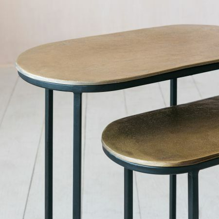 Jansen Set of Two Oval Side Tables
