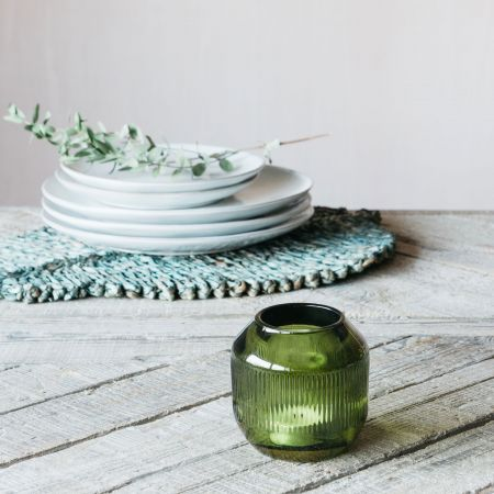 Olive Round Tealight Holder