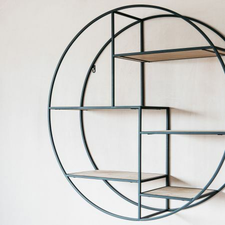 Round Geometric Wall Shelf