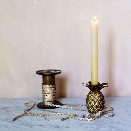 Gold Pineapple Candle Holder - Thumbnail