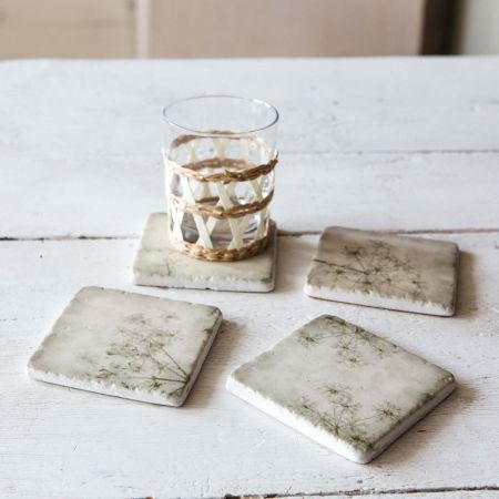 Set of Four Gypsophilia Coasters