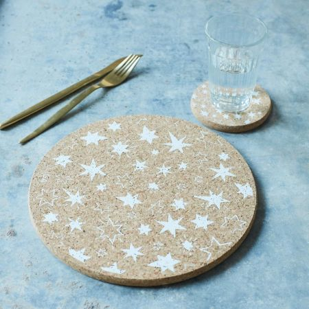 Cork Stars Placemats and Coasters