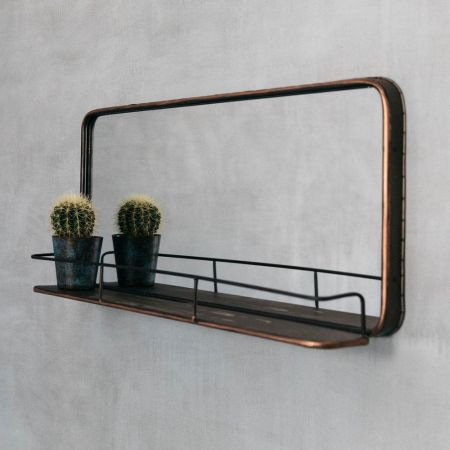 Ola Wall Mirror With Shelf