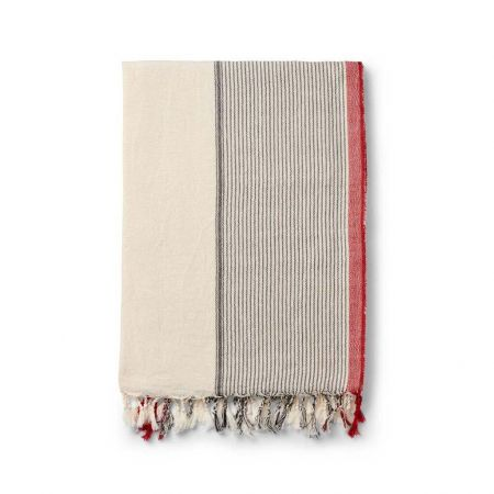 Red and Salt Turkish Towel