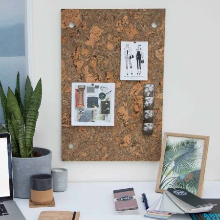 Smoked Cork Memo Board