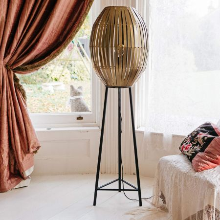 Karina Antique Bronze Floor Lamp