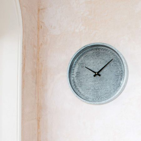 Grey Distressed Wall Clock
