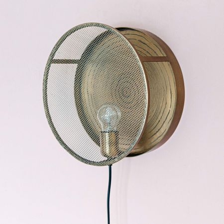 Naya Bronze Mesh Wall Light