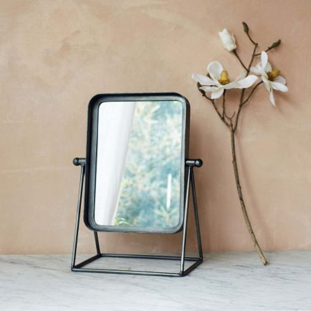 Industrial Table Mirror