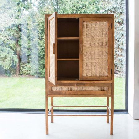 Avery Wooden Webbed Cabinet