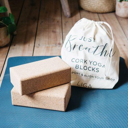 Set of Two Cork Yoga Blocks