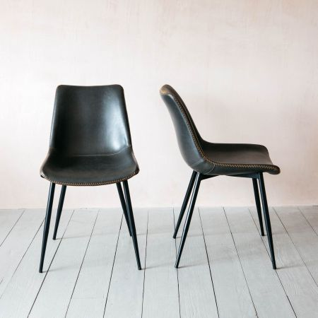 Set of Two Novak Grey Chairs