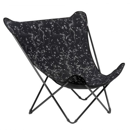 Star Print Pop Up Deck Chair