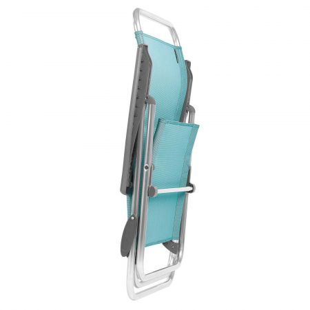 Light Blue Fold Up Deck Chair