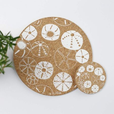 Cork Sea Urchin Placemats and Coasters